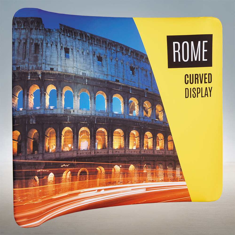 Curved Fabric Exhibition Stands Pop Up Display