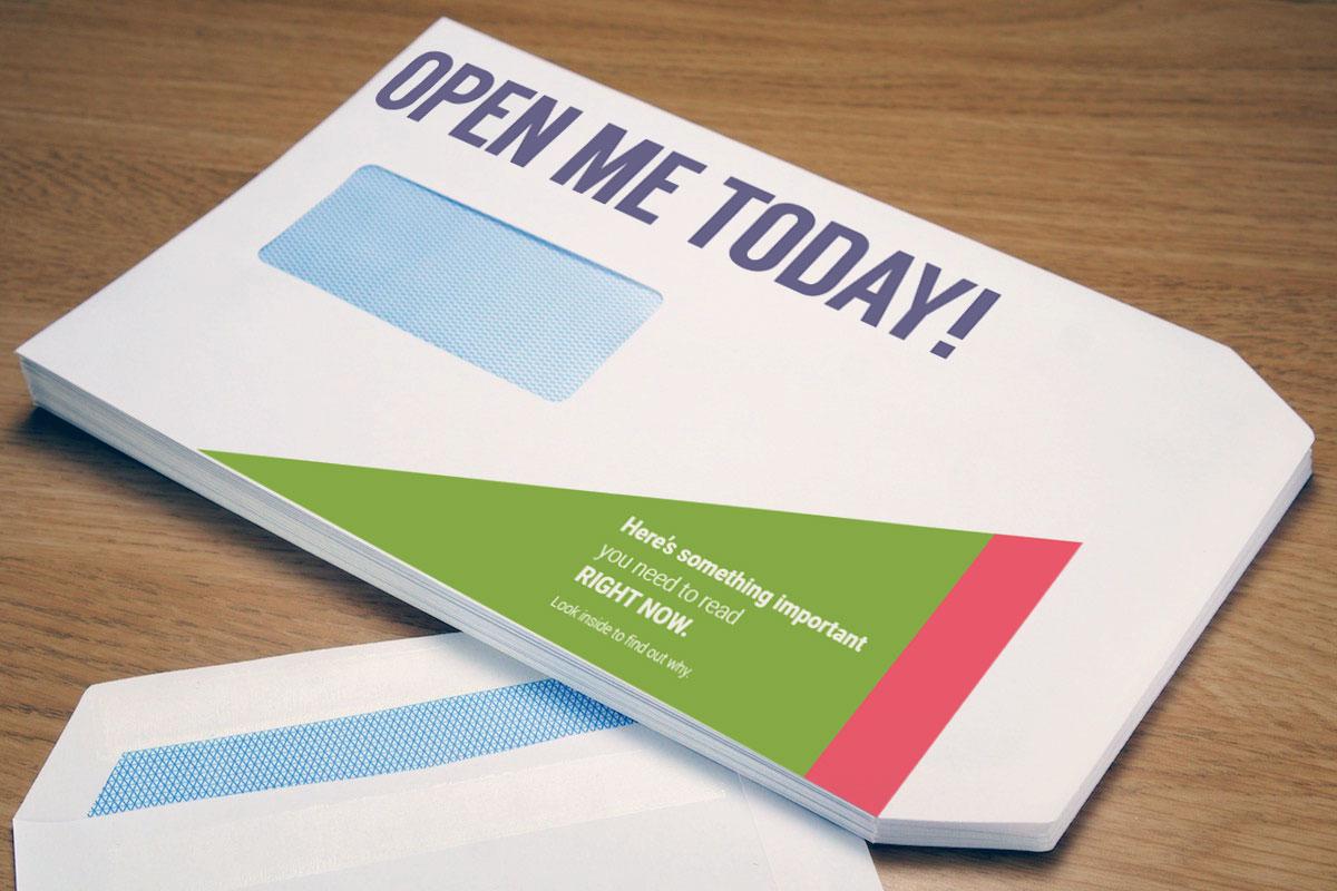 Personalised Envelope Printing from Brinkworth Signs & Graphics