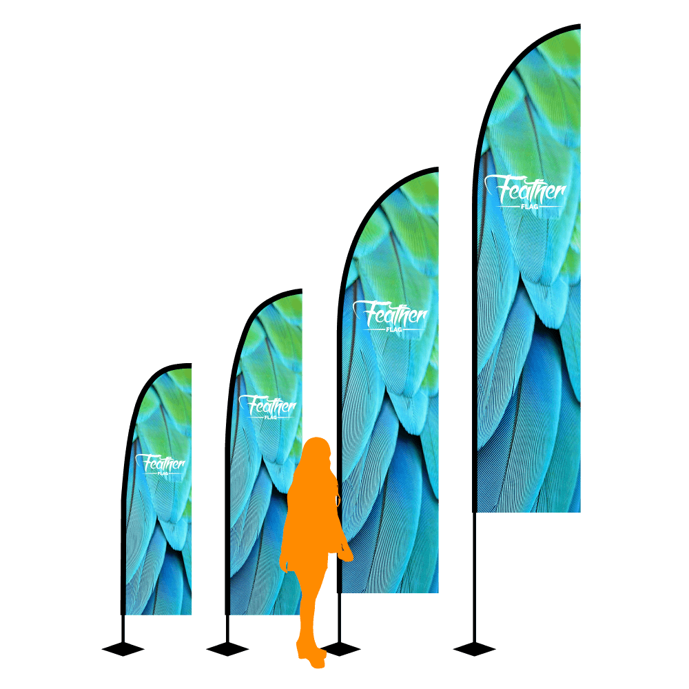 Custom Feather Flags for Outdoor Use