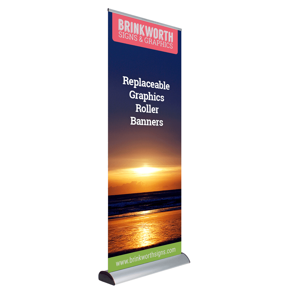 Interchangeable Graphics Roller Banner