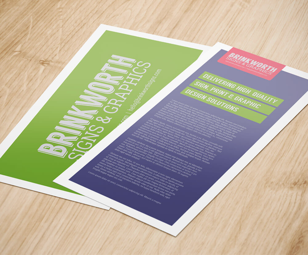 Custom Leaflet Printing