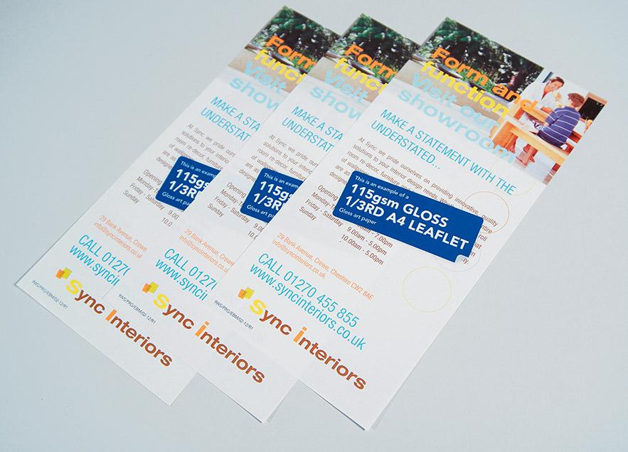 Standard Flat Leaflet Printing