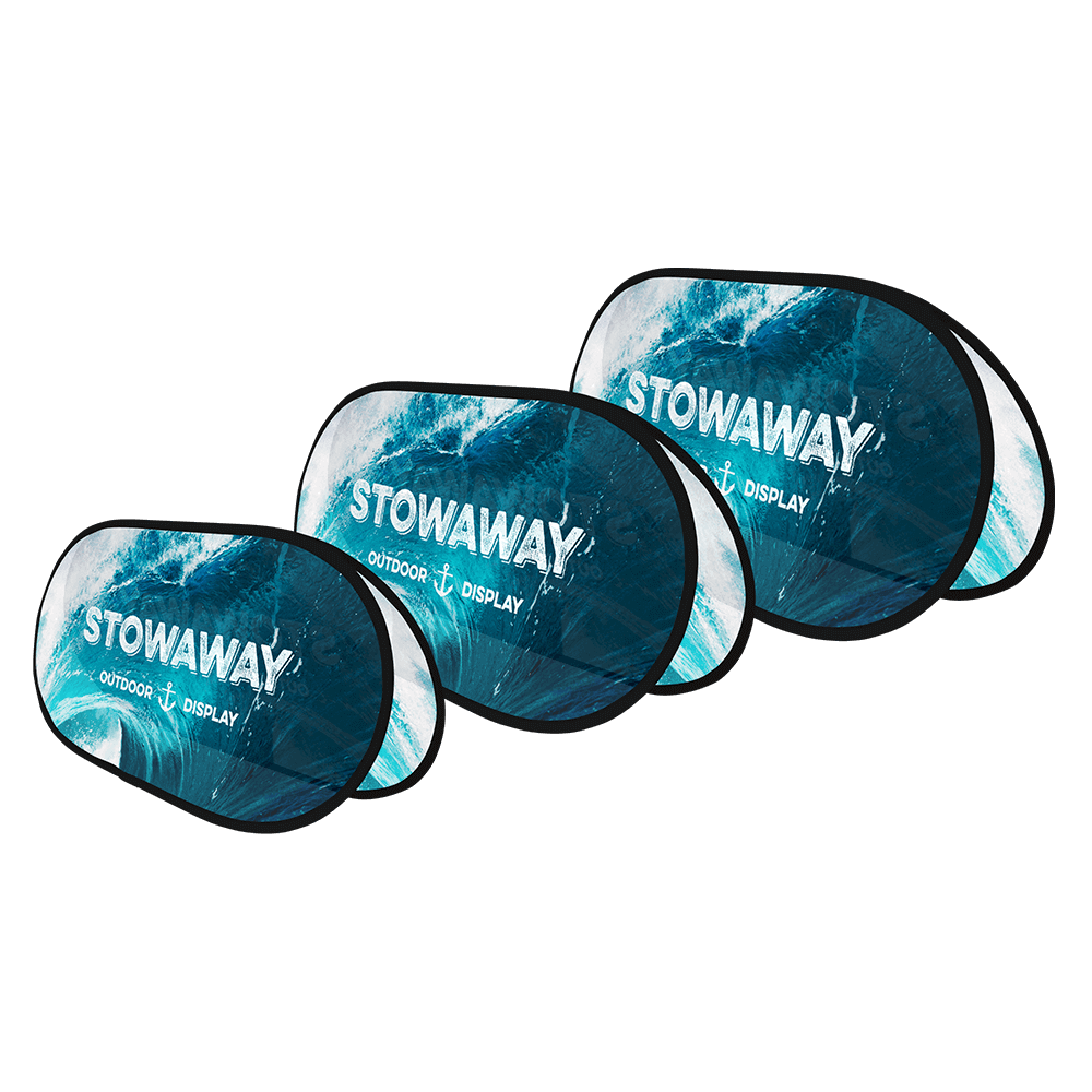 Stowaway Outdoor Fabric Display