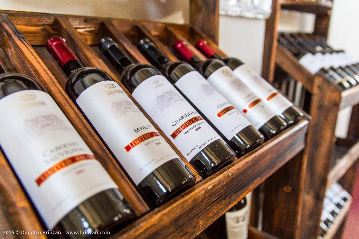 Asconi Winery in Puhoi Village, Moldova - Bottles of Wine