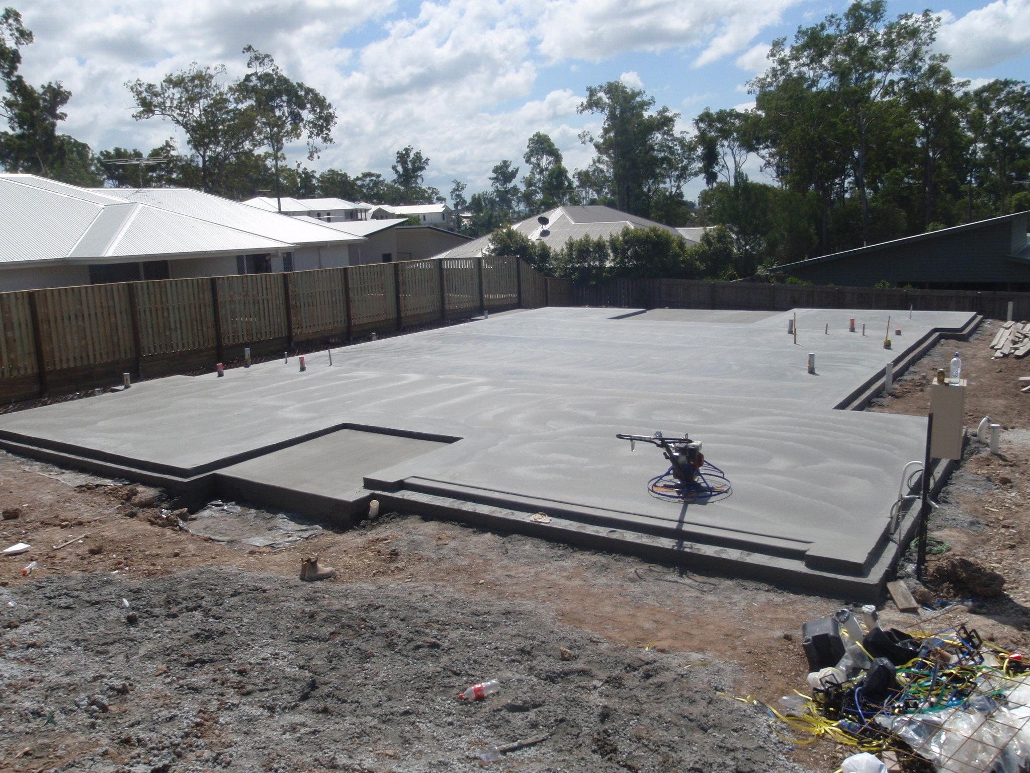 Concrete house slab brisbane concrete landscaping for Concrete slab homes