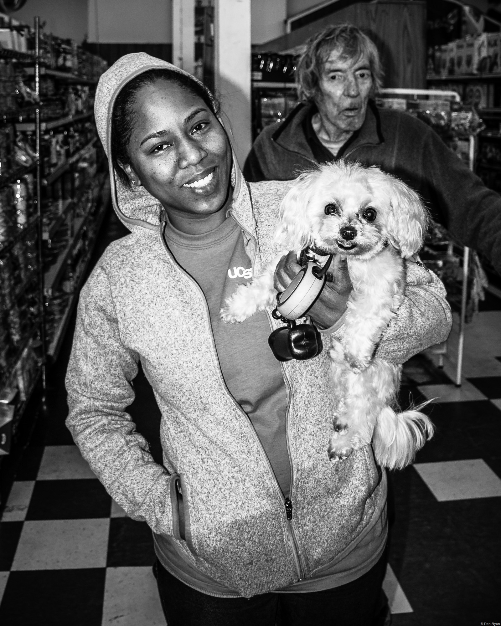 African American Woman and Dog