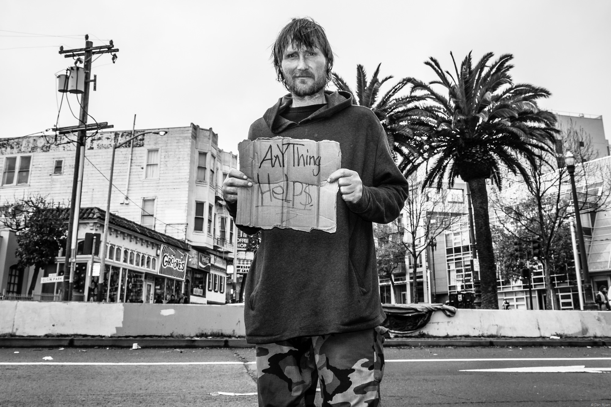 Homeless Man Octavia Street San Francisco