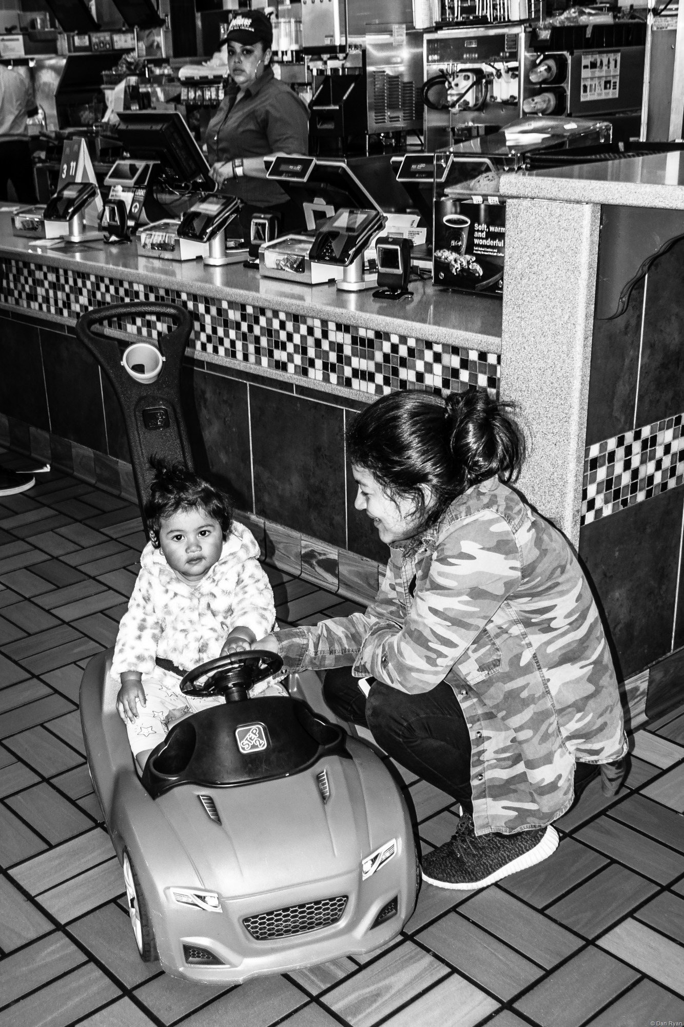 Latina mother and child McDonald's