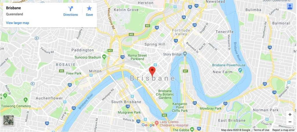 area map brisbane