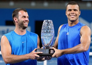 Marc Gicquel and Jo-Wilfried Tsonga.