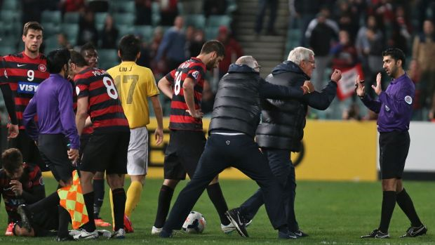 Ugly scenes: Western Sydney Wanderers and Guangzhou Evergrande have ACL history.