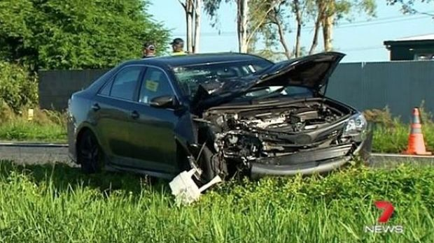 A car and motorbike collided on the Bruce Highway near Mackay, killing the 40-year-old male rider and forcing the ...