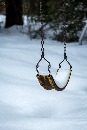 Snow on Swingset