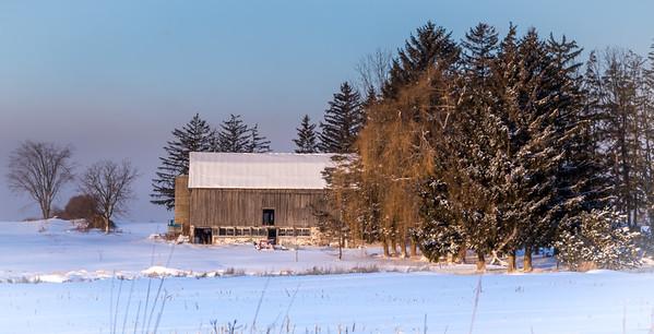 Winter Sunrise on the Farm