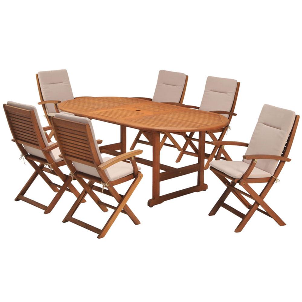 coastal classic kingsbury 7 piece outdoor furniture setting