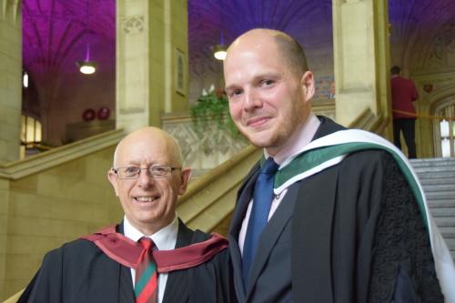 Richard Abraham with Tom Sperlinger, Course Director