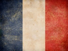french flag distressed