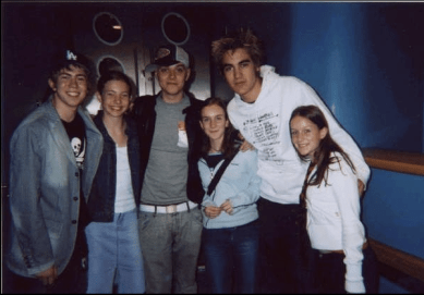 Me and Busted: Loving Life. Poor photo quality because it was 2002, so I had to scan it onto my computer.