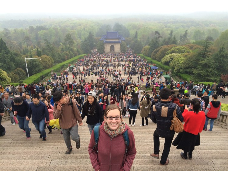 We stuck out a lot in Nanjing as some of the few foreign tourists.