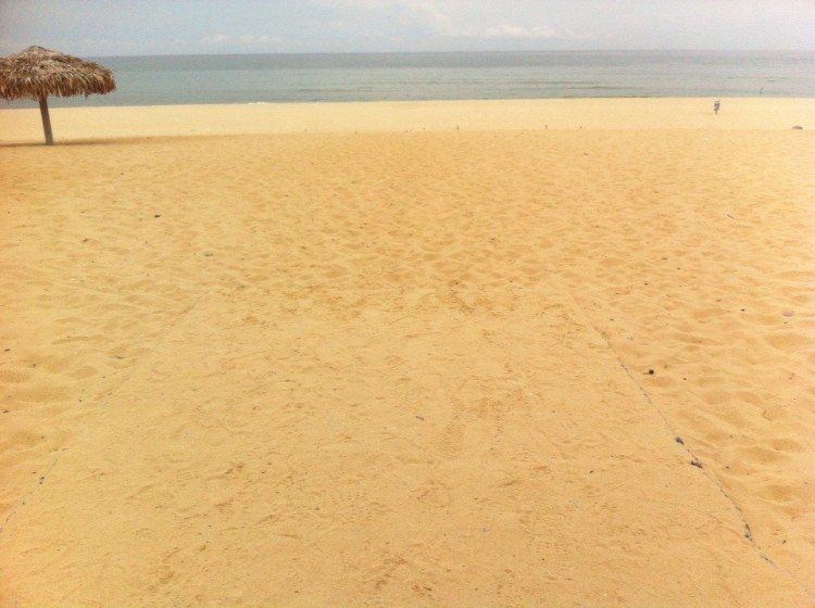 The gorgeous empty beach in Dong Hoi in 2014