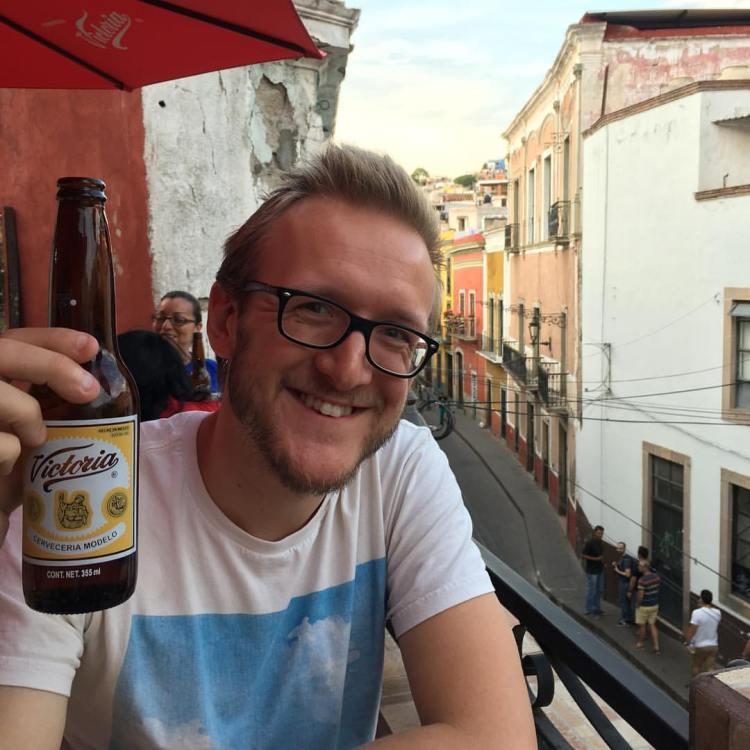 Bar Guanajuato, Mexico, Victoria Beer, Smiling