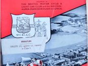 1949 Weston Speed Trials Programme Cover