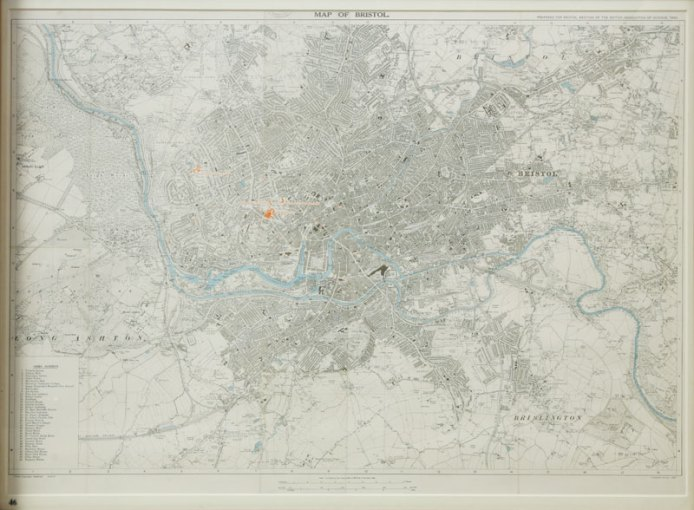 Special edition 1930 Ordnance Survey map of Bristol  Bristol s     Special edition 1930 Ordnance Survey map of Bristol  Bristol s Museums   Galleries and Archives