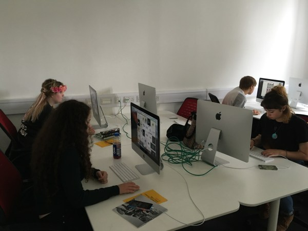 boomsatsuma students at work in Engine Shed