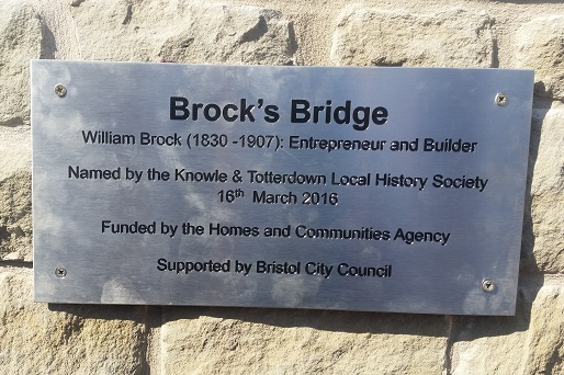 Brock's Bridge plaque