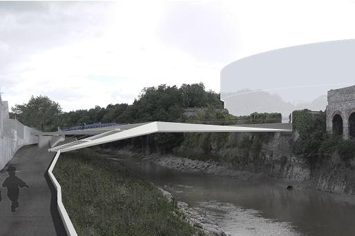 St Philips Footbridge visual