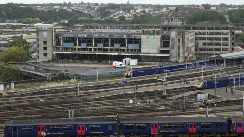 Old Sorting Office panorama with railway
