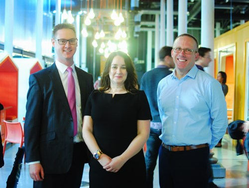 Lee Probert, City of Bristol College Principal, Claire Thorogood, Director of Apprenticeships & Employer Based Training and Nick Sturge, Director of Engine Shed