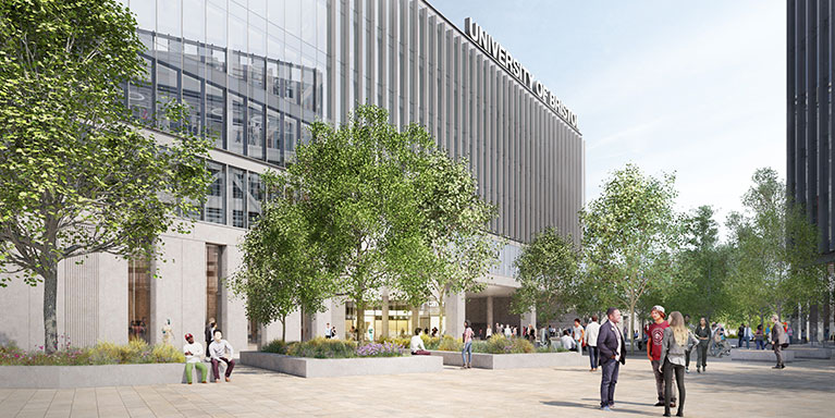 Artist impression of Temple Quarter Enterprise campus view.