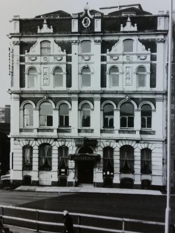 The Grosvenor hotel in the 1960s