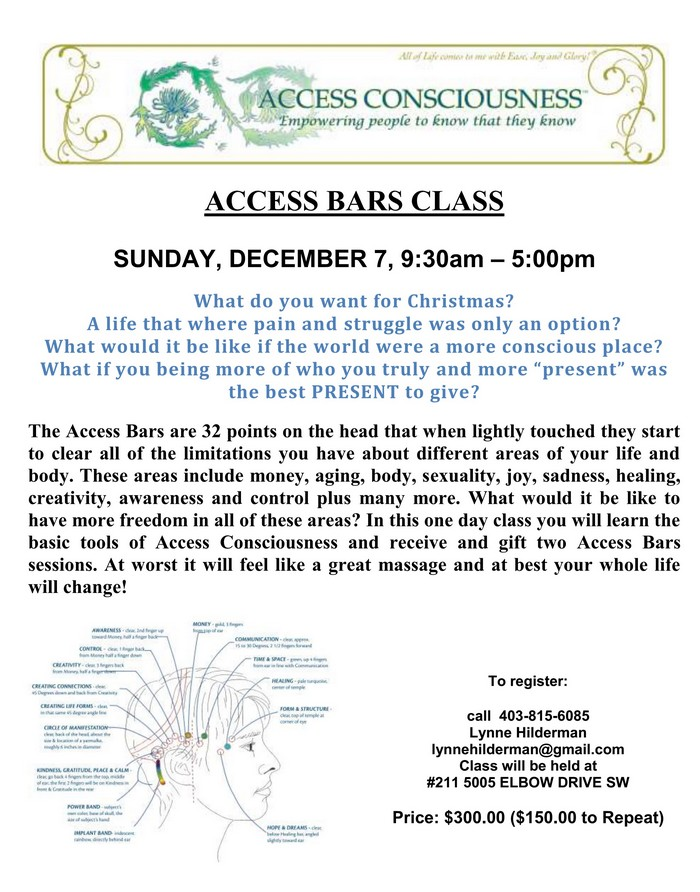 ACCESS BARS poster December 7, 2014-700