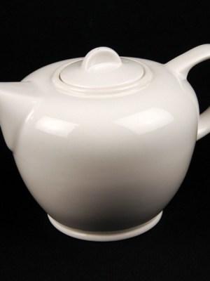 Teapot White China Hire Alchemy (36 oz / 1 litre)