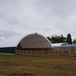 50' x 90' Fabric Structure Beef Cattle Shelter