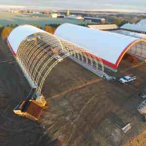 Two 80' x 200' Fabric Structure Compost Storage Buildings