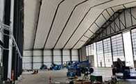 Fabric buildings and fabric structures doors insulation