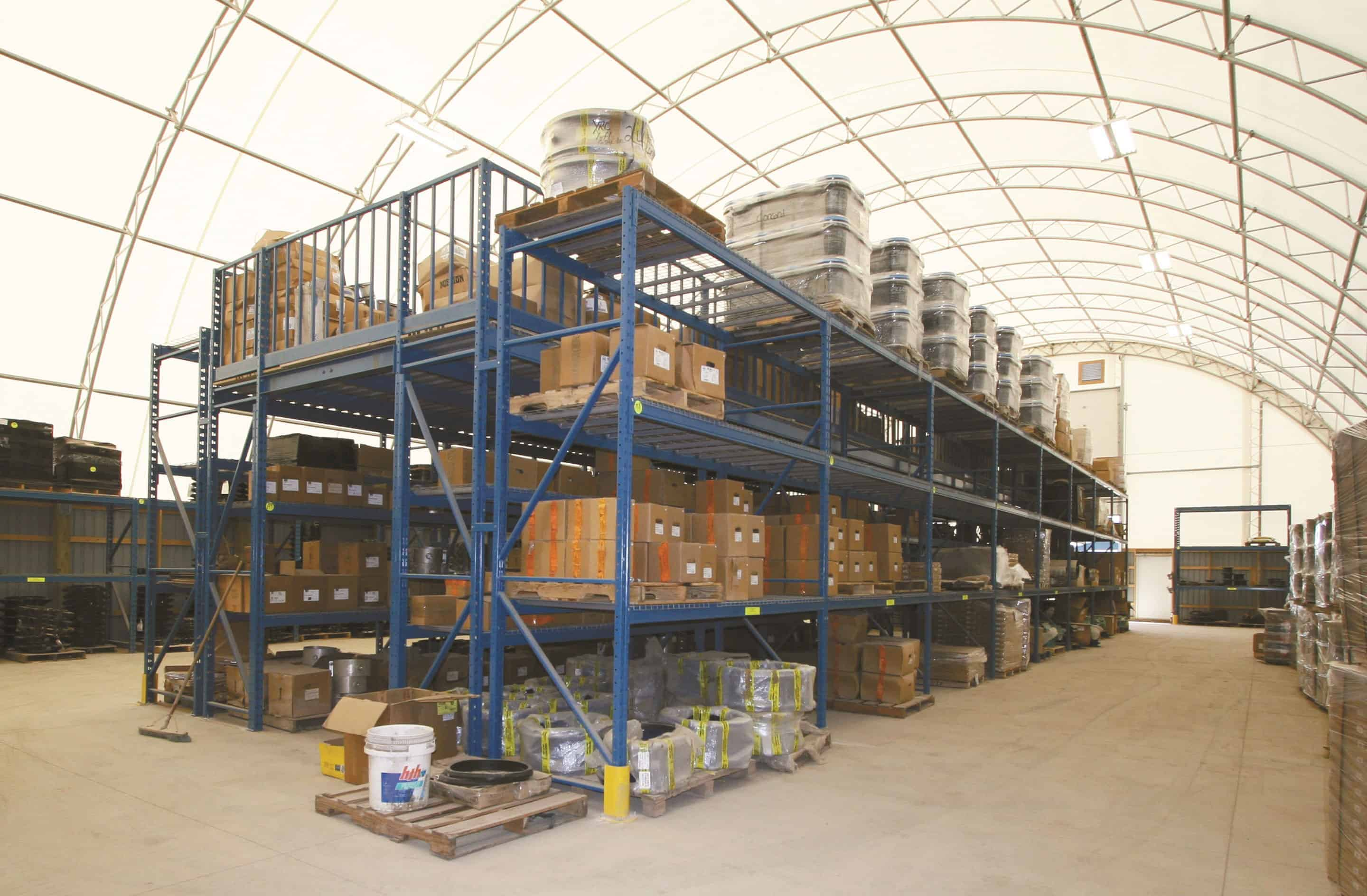 Warehouse building equipment for the meat and dairy industry
