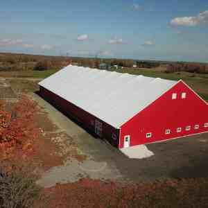 Over the Moon Farm Fabric Structure Indoor Riding Arena