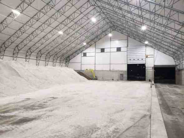140' x 180' Salt Storage Fabric Building