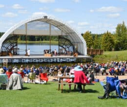 Event Centers, Concert Stages featuring Britespan Fabric Buildings