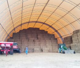 Hay Storage and Equipment Storage building from Britespan Fabric Buildings