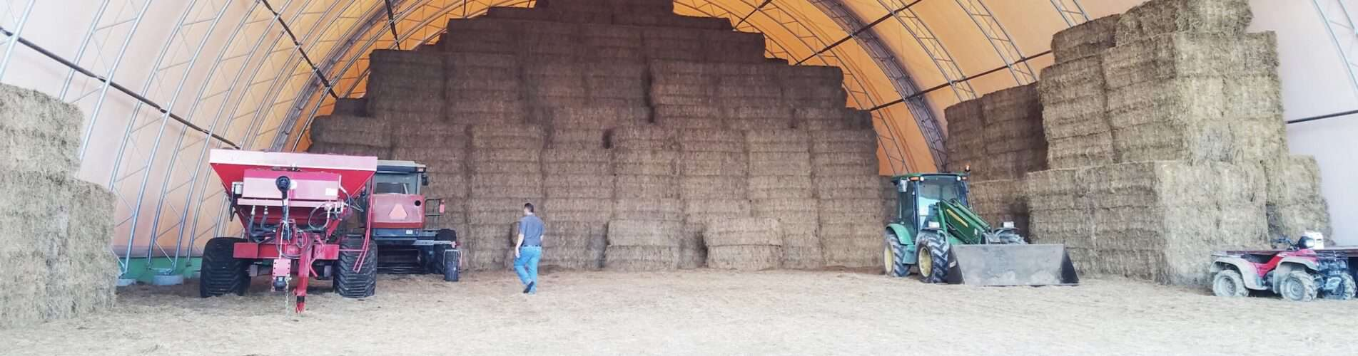 Hay and equipment storage in a Britespan Fabric Building