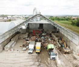 Waste and Recycling in a pre-engineered fabric Building