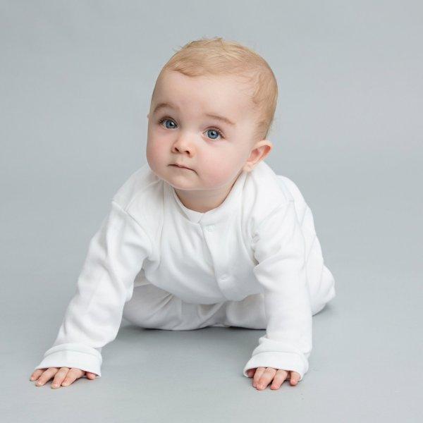 100% Organic Cotton Sleepsuit - Modelled