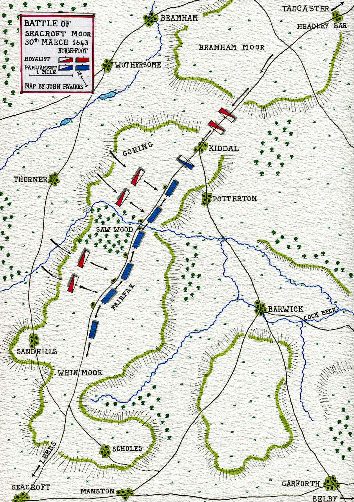 Battle Of Seacroft Moor On 30th March In The English