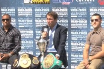 froch ward press conference video