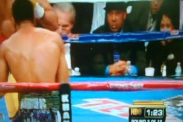 Amir Khan Mystery man at ringside